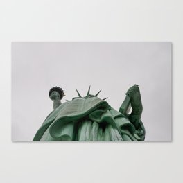 A Lady in green - NYC Canvas Print