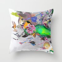 orca Throw Pillows featuring Orca by Archan Nair