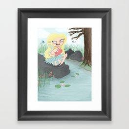 Pond Fairy Framed Art Print