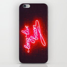 LONG LIVE BACON iPhone Skin