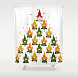Merry Gnoming Christmas Shower Curtain
