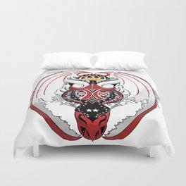 Smoking Bloodshot Dragon Duvet Cover