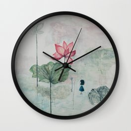 A World in a Flower Wall Clock