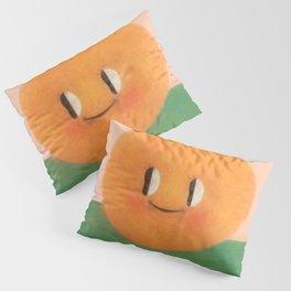 Happy happy Tangerine Pillow Sham