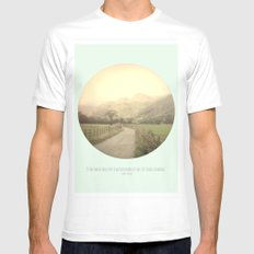 Mountain Tops Mens Fitted Tee White MEDIUM