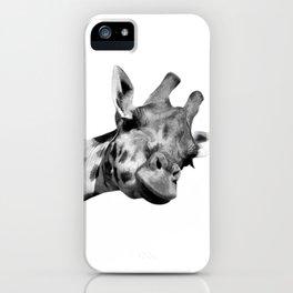 Black and white giraffe iPhone Case
