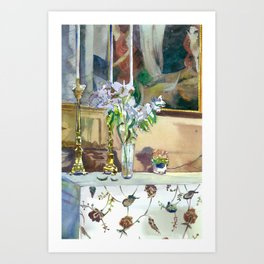 flowers and candles Art Print