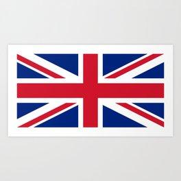 United Kingdom: Union Jack Flag Art Print
