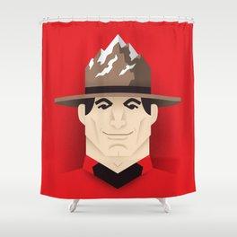 Mountie Shower Curtain
