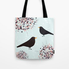 Hawthorn & Blackbird Tote Bag
