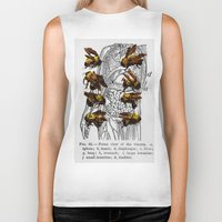bees Biker Tanks featuring bees by Ashley Moye