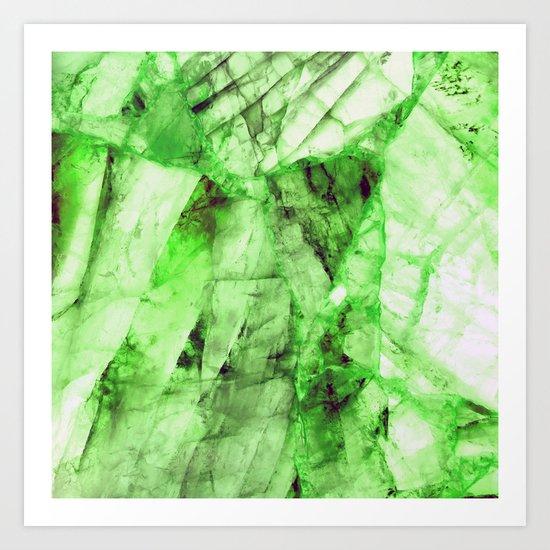 Green crystal Art Print