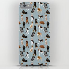 Coonhounds on Blue iPhone Case