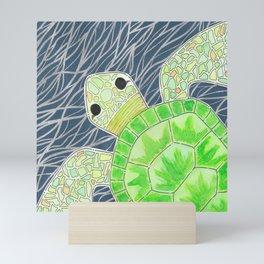 Tortu the Sassy Turtle Mini Art Print