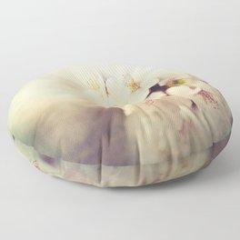 White Poppy Grudge Floor Pillow
