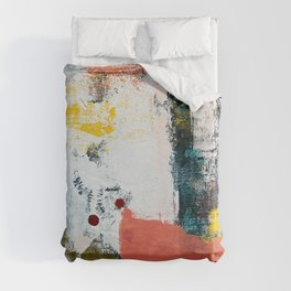 13th and Grant: a pretty street art piece in pink black and yellow by Alyssa Hamilton Art Duvet Cover
