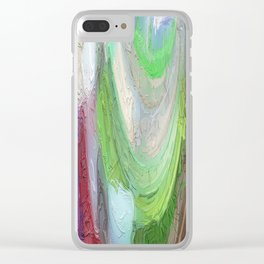 464 - Abstract Colour Design Clear iPhone Case