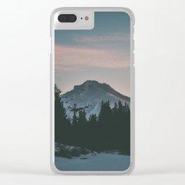 Frozen Mirror Lake Clear iPhone Case