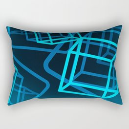 Boxing the blues Rectangular Pillow