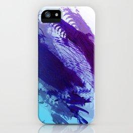 Grape and Deep Blue Smear iPhone Case