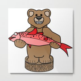 Northwest Bear Metal Print