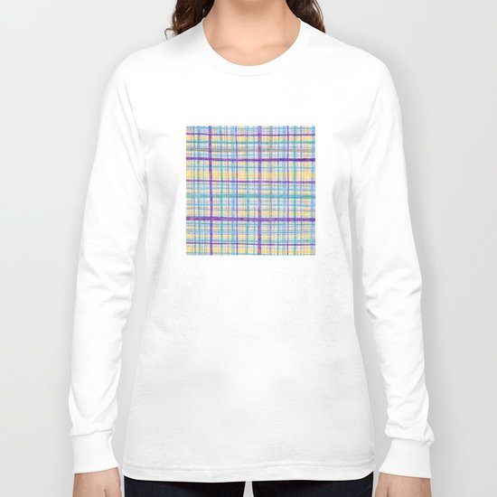Plaid Pattern Long Sleeve T-shirt
