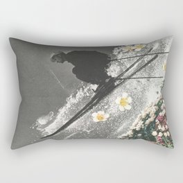Spring Skiing Rectangular Pillow