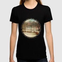 Winter Morning Pond Journey T-shirt