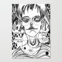 dave matthews Canvas Prints featuring dave by Valeria Pomidoro