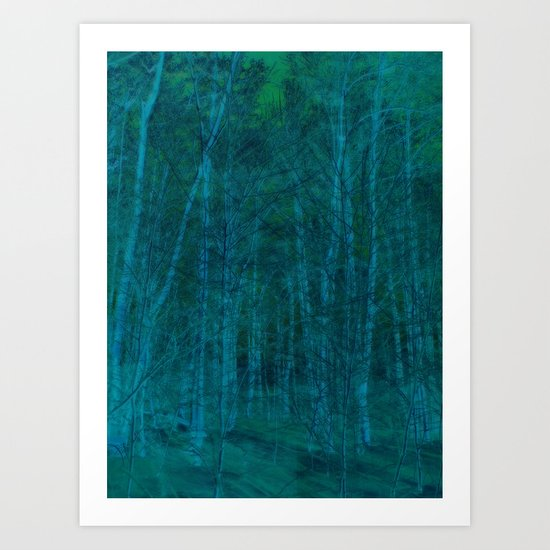 Abstract ~ Dreaming in the forest Art Print