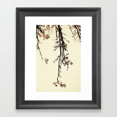 Delicate like rain Framed Art Print