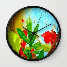 Rusting Leaf Wall Clock