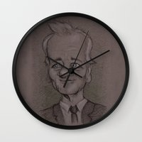 butcher billy Wall Clocks featuring Billy by chadizms