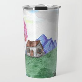 Chinese Cottage in Spring Travel Mug