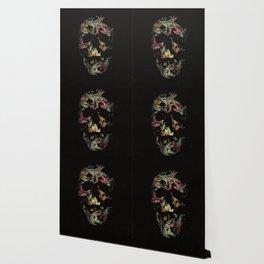 Paisley Skull Wallpaper
