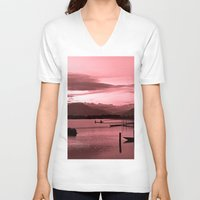 buddhism V-neck T-shirts featuring FULL OF PEACE - VIETNAM by CAPTAINSILVA