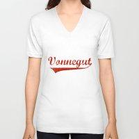vonnegut V-neck T-shirts featuring Team Vonnegut by Oscar Sierra