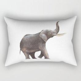 Elephant Drawing Rectangular Pillow
