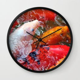 Gathering Koi Wall Clock