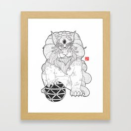 The First Shisa Framed Art Print