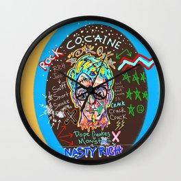 Rock Cocaine Crack Games Remixed Wall Clock