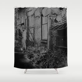 Chalk & Charcoal Alleyway #1 Shower Curtain