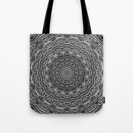 Zen Black and white mandala Sophisticated ornament Tote Bag