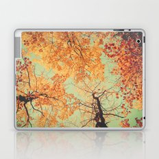 Autumn Inkblot - Yellow Laptop & iPad Skin