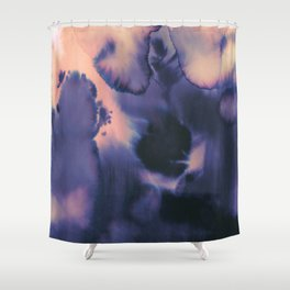 water color wave II collab Dylan Silva Shower Curtain
