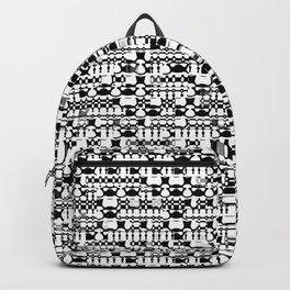 Black and white geometric shapes Backpack