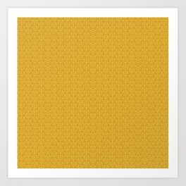 24 Karat Gold Tres Petit Geometric Pattern Art Print