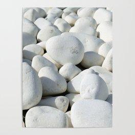 White stones Poster