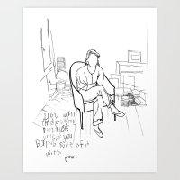 poetry Art Prints featuring POETRY by josie stevens
