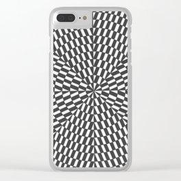 arte óptico Clear iPhone Case